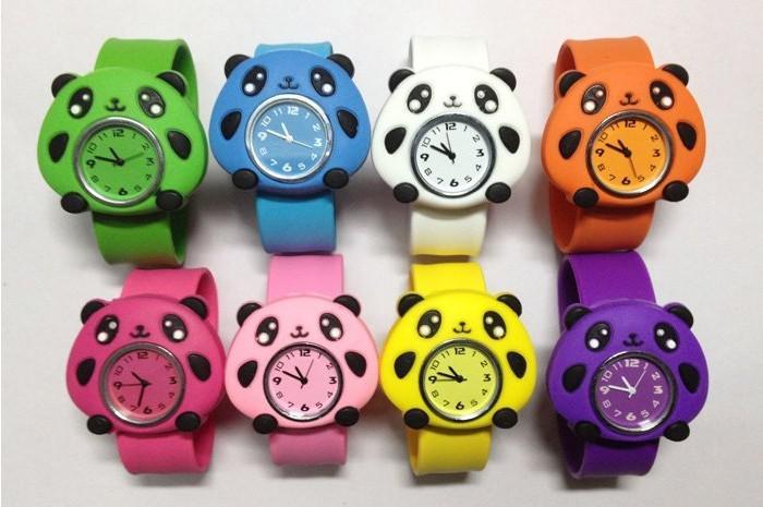Silicone Lovely Animal Slap Snap Watch Multi-styles Cartoon Children Wristwatch+ DHL best price best2011