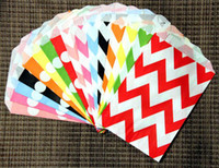 Wholesale Chevron Gift Bags - 33 designs Middy Bitty Food Safe Flat Paper Craft Bags Paper Gift Favor Bags Party Food Paper Bag Chevron Treat Craft Paper Popcorn Bags
