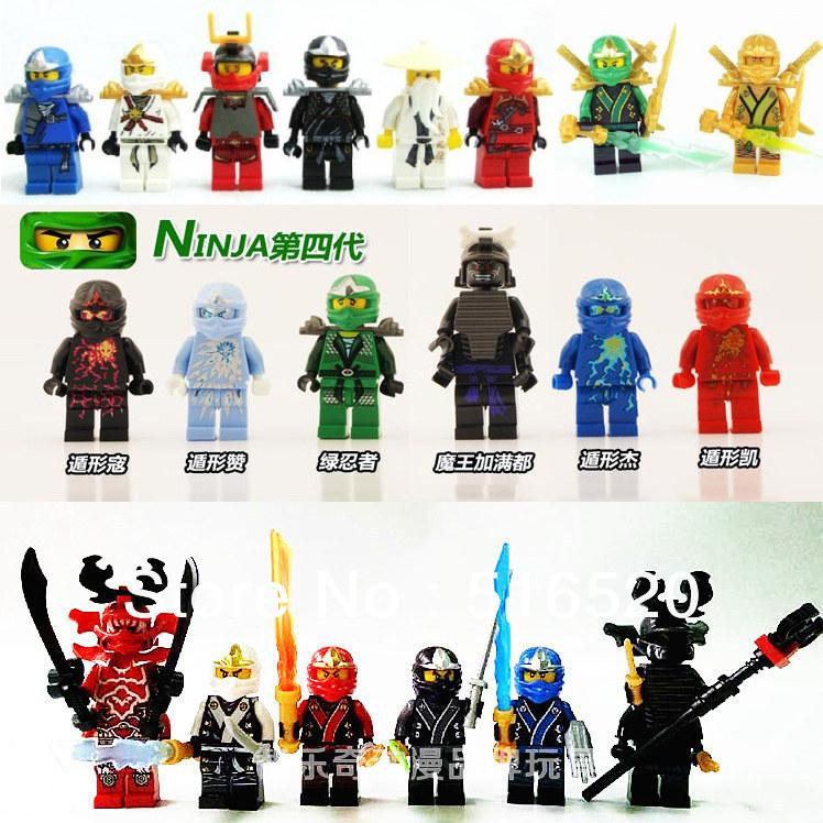 ninjago building block sets ninja minifigure with weapons bricks toys without orignial box. Black Bedroom Furniture Sets. Home Design Ideas