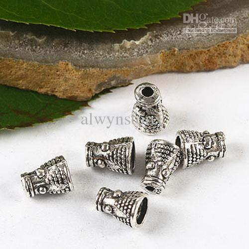 100 pz argento tibetano filtro perline tappo H2800