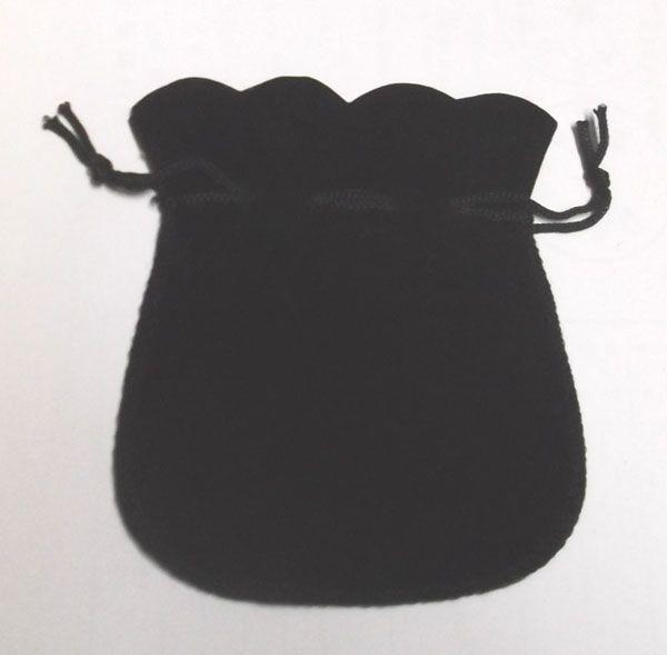 Freies Verschiffen 100 teile / los Schwarz Samt Schmuck Geschenk Taschen Beutel Für Handwerk Modeschmuck Geschenk B06