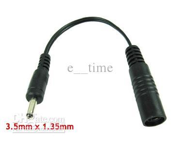 3.5mm x 1.35 mm mannelijke plug tot 5,5 mm x 2.1mm vrouwelijke socket DC-voedingsadapter kabelconversie plug / Express gratis verzending