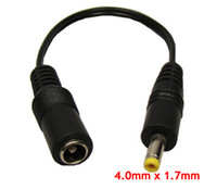 Wholesale wholesale video cables - 4.0mm x 1.7mm Male Plug to 5.5mm x 2.1mm female socket DC Power Adapter cable Conversion Plug 200pcs  Lot Express free Shipping