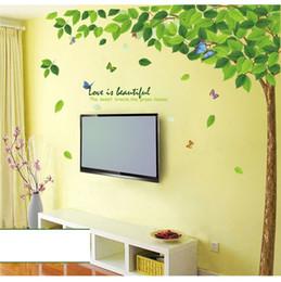 Wholesale Big Wallpaper - 1PCS Big Green Tree Wallpaper DIY WALL DECALS Stickers Home Deco 60x90cm #23214