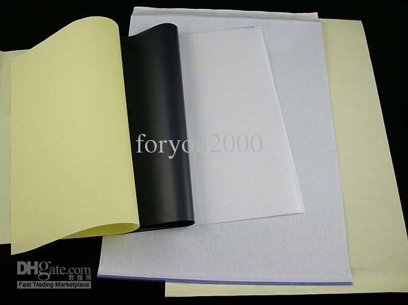 الكثير من 10 ورقة ورقة نقل الوشم A4 ورقة الاستنسل الوشم العرض للحصول على ناسخة الحرارية