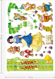 Wholesale Snow White Wall Stickers - 1PCS Snow White & the seven dwarves Wallpaper DIY WALL DECALS Stickers Home Deco #23233