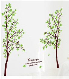 Wholesale Lovers Wall Decal - 1PCS Romantic Tree lovers Wallpaper DIY WALL DECALS Stickers Home Deco 60x90cm #23220