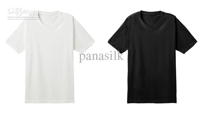 Мужская тяжелый вес 100% шелк трикотажные футболки