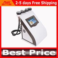máquina de esculpir el cuerpo al por mayor-5 en 1 Liposucción ultrasónica Cavitación Máquina de adelgazamiento Cavitación + Vacío + RF + Fotón Máquina de pérdida de peso para eliminación de grasa Escultura corporal