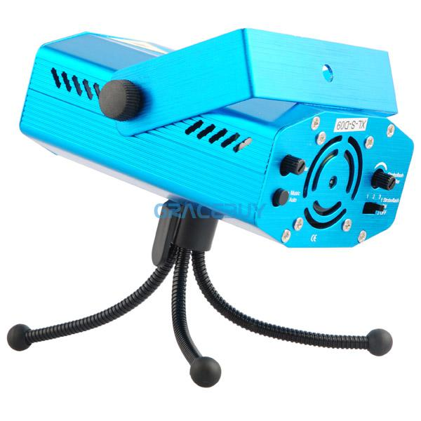 Mini Voice-control Moving 150MW Holographic Laser Star Stage Lighting Projector Disco Party DJ Light NEW