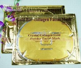 gold crystal face mask 2019 - 200pcs Gold Crystal Collagen Facial Mask Face Masks 2013 Brand New cheap gold crystal face mask