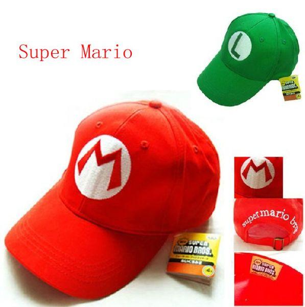 Super Mario baseball hat cap Cosplay Hat super mario hat super mario cap 2pcs Free shipping
