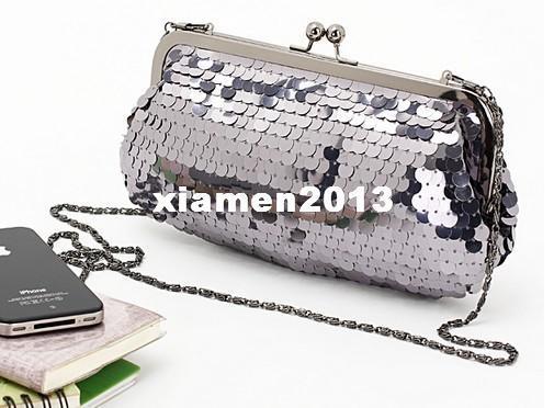 New Fashion Nobile ed elegante paillettes scintillanti in ferro Pochette, borsa da sera