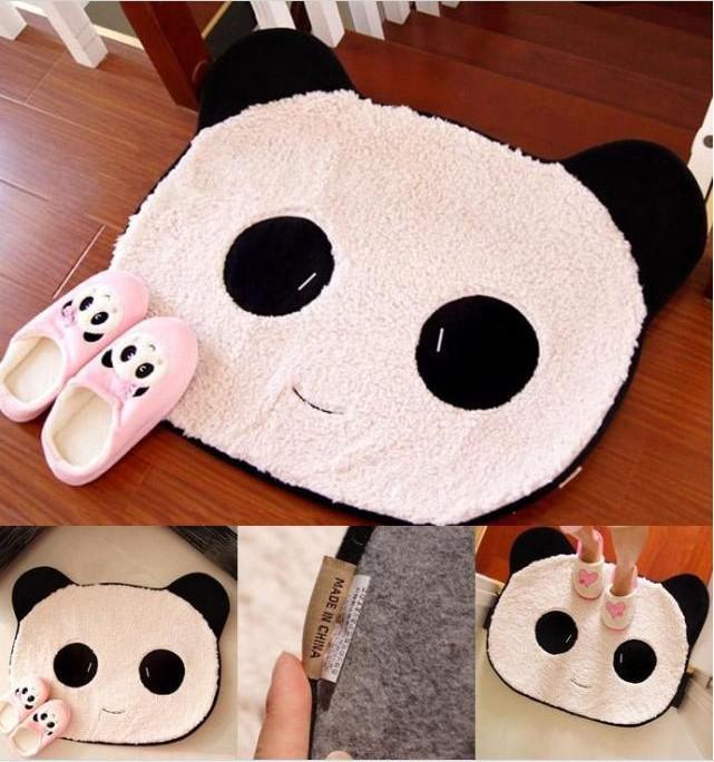 Cute Sweet Black U0026 White Rug Panda Bear Face Doormat Mat Pad Small  Carpet Tile Carpets Online Interface Carpet From Jackhuang Dhgatecom
