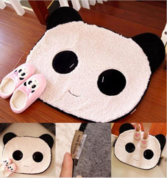 cute sweet black u0026 white rug panda bear face doormat mat pad small carpet tile - Bear Rugs
