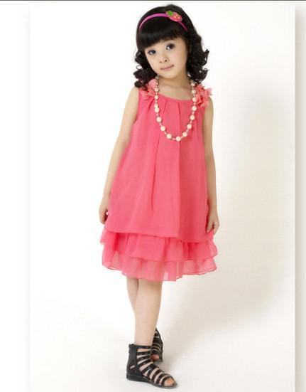 Büyük çocuk kız prenses elbise dantel yay şifon elbise + kolye