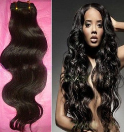 Wholesale 4a Human Hair Weave - 10% Off Human Hair weave Brazilian Virgin Hair Body Wave Hair Extensions 4A Grade 3 -5 Bundles   Lot Thick mix length dhl Free
