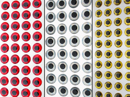 luzes químicas atacado Desconto 3D Olhos de Peixe Voar Amarrando Isca Fazer Ofício 3mm 3.5mm 4mm 4.5mm 5mm 5.5mm 6mm 7mm 8mm