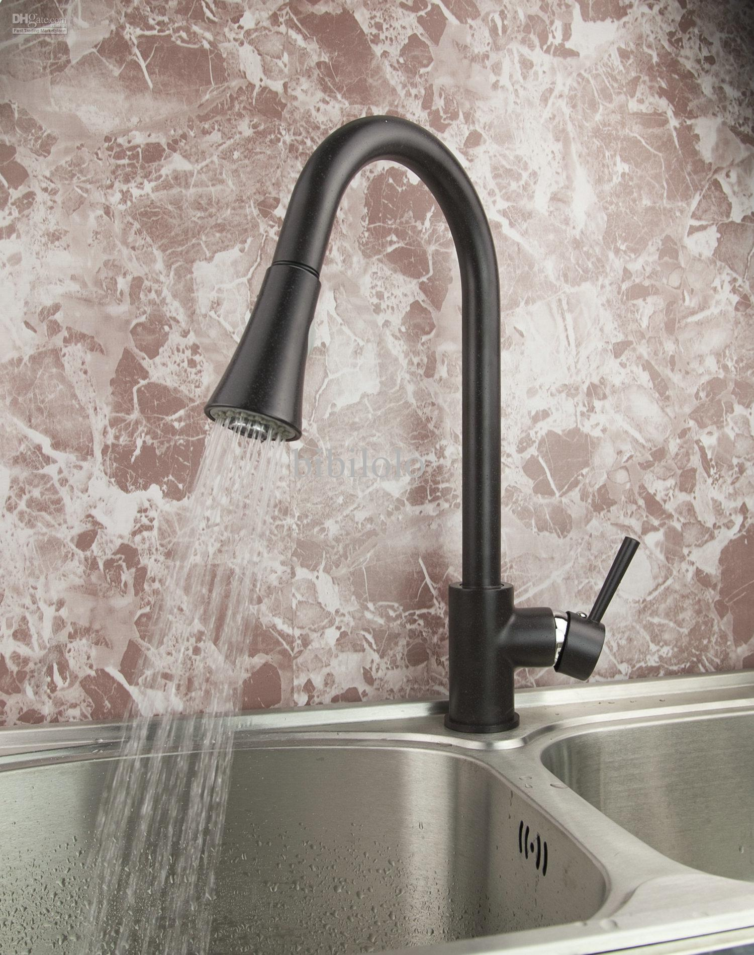 2021 Oil Rubbed Bronze Kitchen Sink Single Handle Mixer Tap Faucet Dh 7250 From Bibilolo 69 1 Dhgate Com