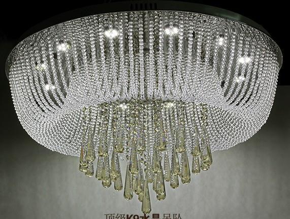 60cm Modern LED Crystal Flushmount Ceiling Light Diamond Rain Drop Lamp Lighting
