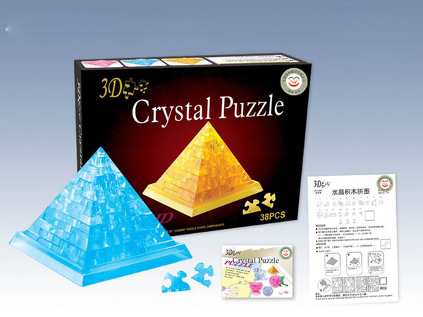 best selling Pyramid 3D Crystal Jigsaw Puzzle 38Pcs