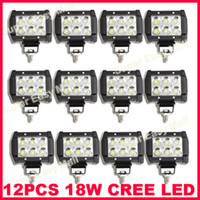 "Wholesale Cree Front Rear - 12PCS 4"" 18W 6LED*(3W) CREE LED Working Light Bar Offroad SUV ATV 4WD 4x4 Spot   Flood Beam 9-32V 1600lm IP67 JEEP Motorcycle Head Lamps 4D"
