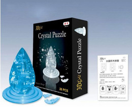 Wholesale Puzzles Jigsaws - Waterdrop 3D Crystal Jigsaw Puzzle 26Pcs