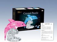 Wholesale 3d Crystal Jigsaw Puzzles - Dolphin 3D Crystal Jigsaw Puzzle 95Pcs
