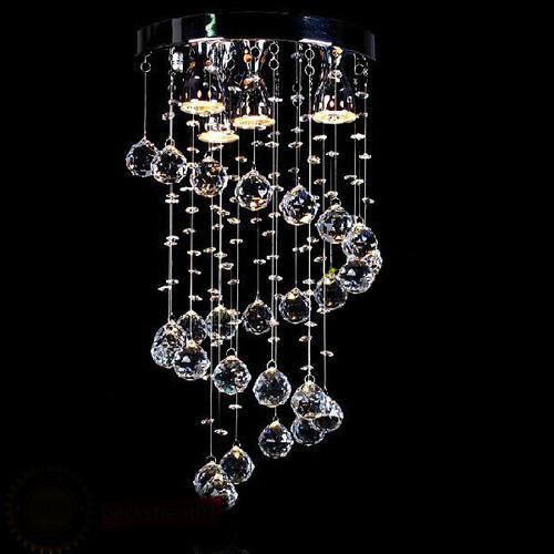 Modern Spiral K9 Crystal Chandelier Ceiling Light Pendant Hanging ...