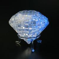 enigma do diamante 3d venda por atacado-Em Forma De Diamante De Cristal 3D Jigsaw Puzzle 41 Pcs