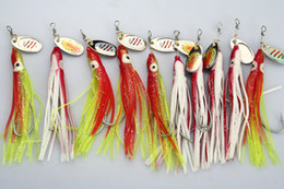 Lot 50 FISHING LURES OCTOPUS SPINNER HOOKS BAITS 7.2g