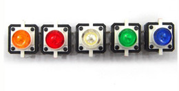 Wholesale Push Button Momentary - EMS free to USA Tactile Push Button Switch Momentary Tact With LED 12X12X7.0 4-pin DIP Through-Hole Original Shrapne