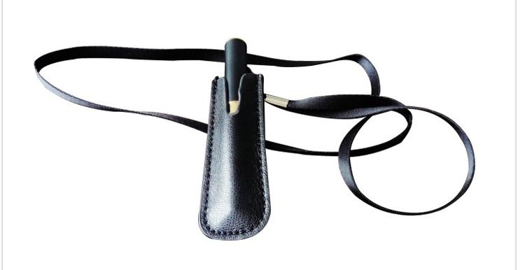 Hot E Cigarette Accessories Leather eGo Case Cortical Neck Lanyard Bag for eGo-T eGo Battery