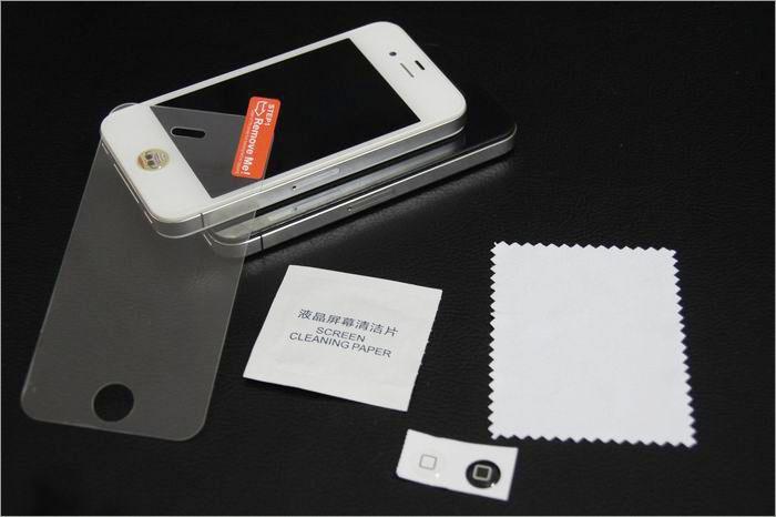 Pellicola proteggi schermo anti-graffio in vetro temperato iPhone 5 in vetro temperato iPhone 5 4s 4G