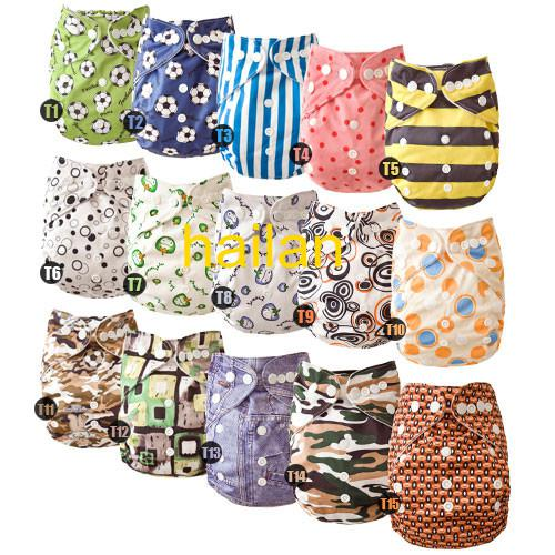 Wholesale-Environmental protection baby cloth diapers diaper reuseable 10% off diaper covers+ Inserts
