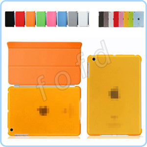 Wholesale Smart Cover for iPad 4 Magnetic Front+Matte Back Case for iPad 2 iPad 3 Multiple Color 50pcs lot