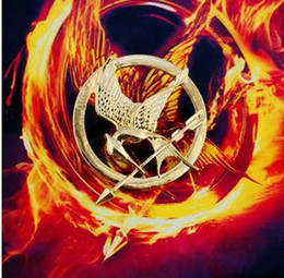 Wholesale Hunger Games Wholesale - The Hunger Games Brooch pin, vintage brooch,(Bronze  gold) free-shipping,wholesale