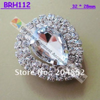 Wholesale Teardrop China - Free shipping, 20pcs lot Teardrop Arylic crystal rhinestone brooch in sliver crystall shiny pins For Wedding Garment Browband Costume decora