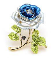 gelinlik çiçek broşları toptan satış-Ücretsiz Kargo! Yüksek Kaliteli Broş Dekoratif Konfeksiyon Elbise Aksesuarları Düğün Gelin Lüks Rhinestone Çiçek Gül Broş Pin