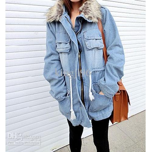 01aa4714a746 Womens denim winter coat – Novelties of modern fashion photo blog