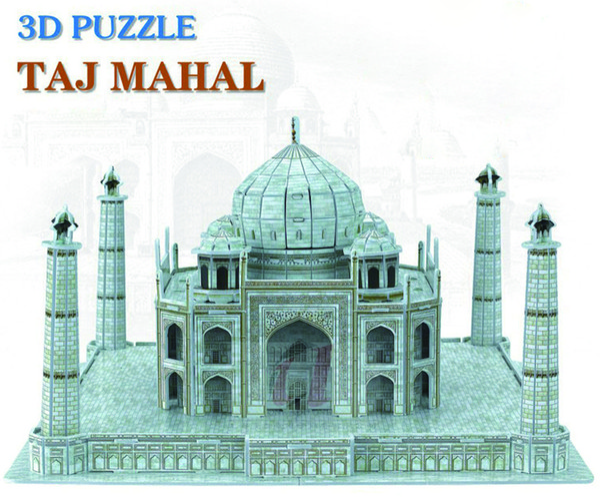 top popular Creative DIY 3D Wooden Jigsaw Puzzle Model - Taj Mahal 2021