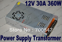 Wholesale Led Display Strip - SVC98 Brand New Switching Power Supply 12V 30A 360W LED Lighting Transformer 110V 220V For LED Strip Light Ribbon Strip Display