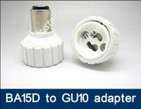 Wholesale ba15d adapter for sale - Group buy 100pcs BA15D to GU10 adapter LED Light Lamp BA15D GU10 adaptor lamp holder GU10 to BA15D converter adapter