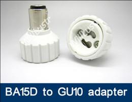 2019 bajonettlampe 100 teile / los BA15D zu GU10 adapter LED-Licht Lampe BA15D-GU10 adapter lampe halter GU10 zu BA15D konverter adapter
