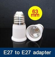 ingrosso adattatore e27 ad alogeni-100 pz / lotto E27 a E27 Adattatore per prolunga Adattatore Led lampada alogena CFL E27 adattatore di prolunga