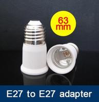 Wholesale Halogen Lamp E27 Adapter - 100pcs lot E27 to E27 Extension Converter Adapter Led Halogen CFL light bulb lamp E27 extension adapter