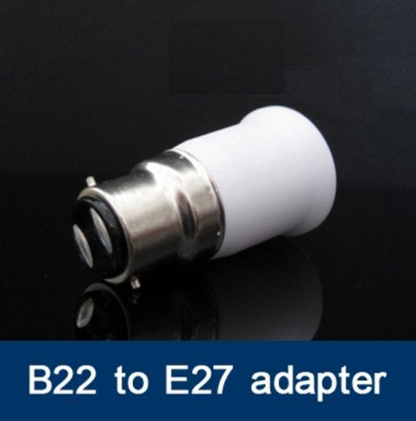 100 adet / grup Fedex ücretsiz kargo B22 E27 Adaptörü için Led Halojen CFL ışık lambası E27 B22 adaptörü BC için ES adaptörü