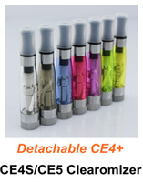 Wholesale Ce5 Plus C - CE4 CE4S CE4+ CE4 plus CE5 Cartomizer Clearomizer 7 colors with Detachable Long Cotton thread Heavy vapor rebuildable for ego-t ego-c ego-w