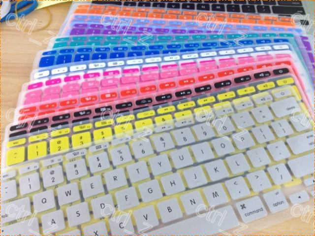 Colorful Silicone KeyBoard Case Protector skin For MacBook Pro Air 13 15 17 inch waterproof dustproof