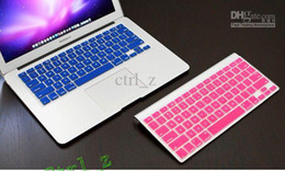 Wholesale Macbook Keyboard Colors - New Arrival 10 Colors Soft Silicone Keyboard Protective Film Cover Skin for Apple MacBook Pro 13.3 15.4 17 inch 13 inch